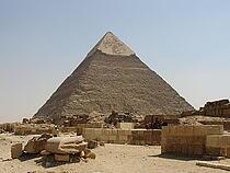 Khafres pyramid in Giza, Egypt.